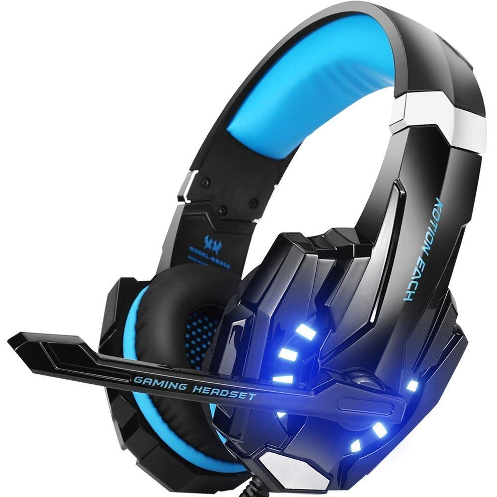Stereo Gaming Headset for PS4, PC, Xbox One Controller, Noise Cancelling  Over Ear Headphones for Laptop Mac Nintendo Switch Games