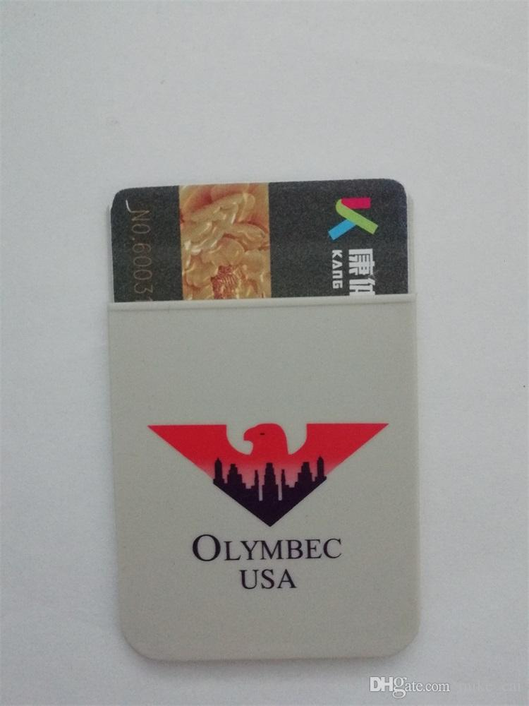 New products flat mouth Dongguan cheap customized print OEM silicone phone credit card holder with 3M sticker