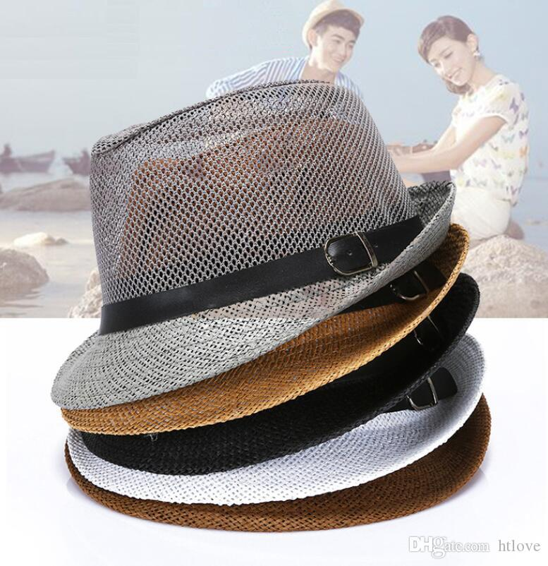 Fashion Women Summer Linen Sun Hat Boho Beach Fedora Hat Sunhat ... 7274b8608428