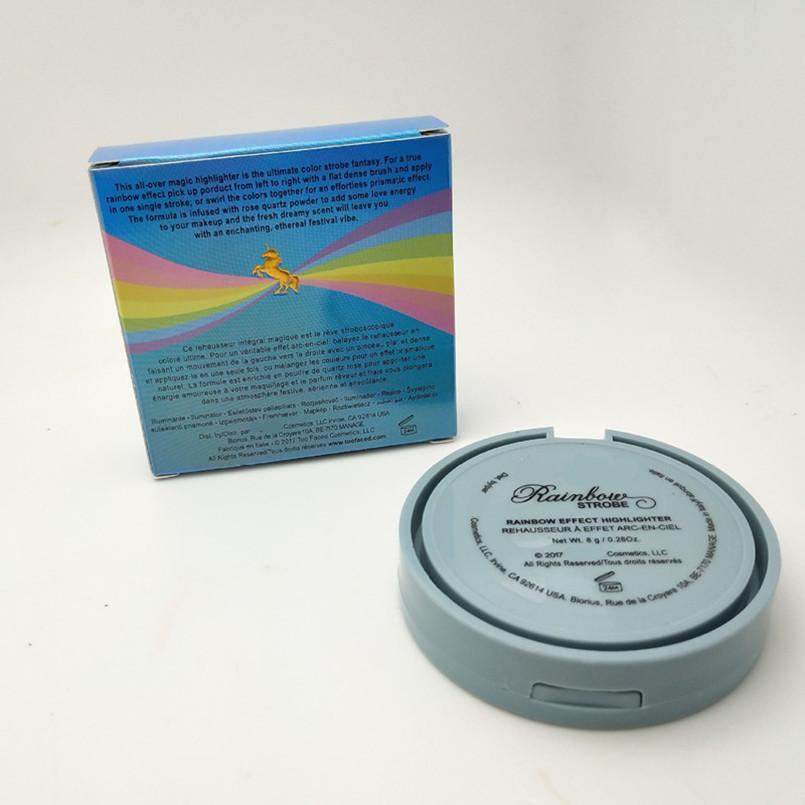 Marca Trucco Viso Trucco Arcobaleno Stroboscopio Evidenziatore Tavolozza in polvere Compatto Life's A Festival Rainbow 5 Multicolor Bronzer Cosmetics