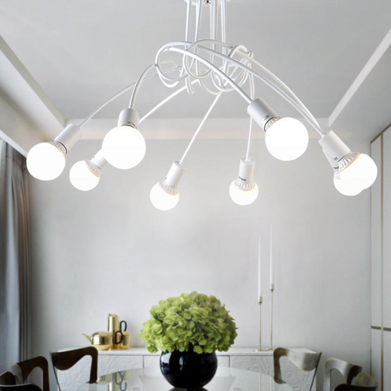 Acheter Américain En Fer Forgé LED Plafonniers Salon Moderne E27 ...
