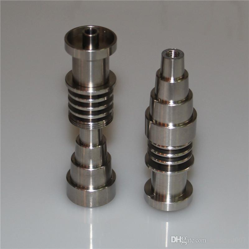 Clavo de titanio ajustable Domeless 10 mm 14 mm 18 mm clavijas de titanio hembra masculina para bobina de clavo de 16 mm, clavos de aceite de alta calidad clavo