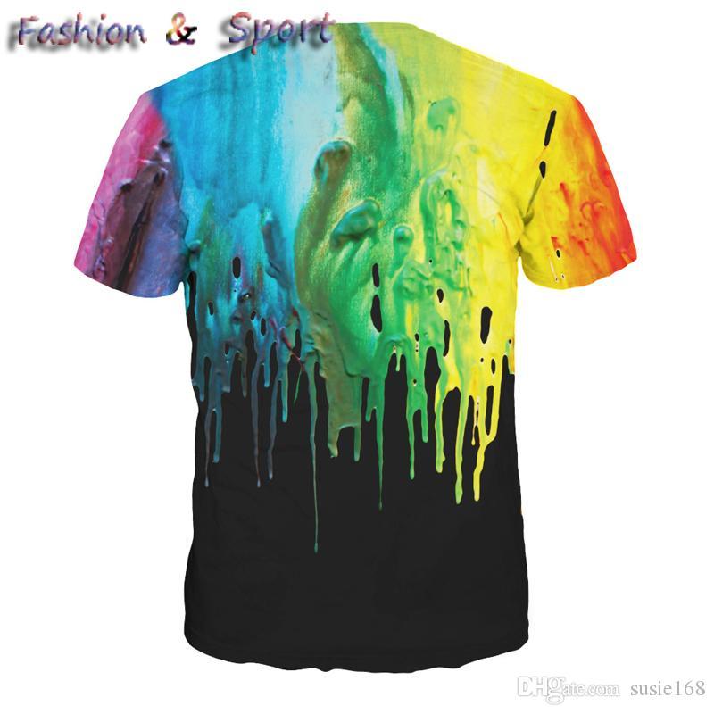 Мода лето 3D мужчины тройники плюс размер с коротким рукавом футболки печатных сухой FitT рубашка цифровой дизайнер одежды M-XXL спортивная футболка
