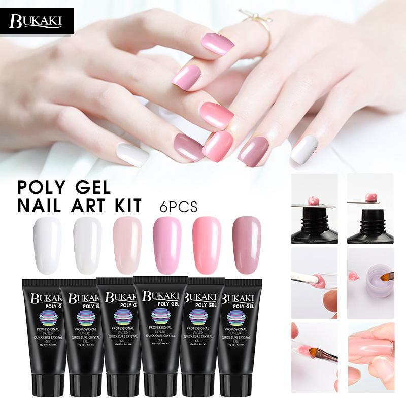 Poly Gel Set For Nail Art Acrylic Gel Solution Fast Building Modle ...