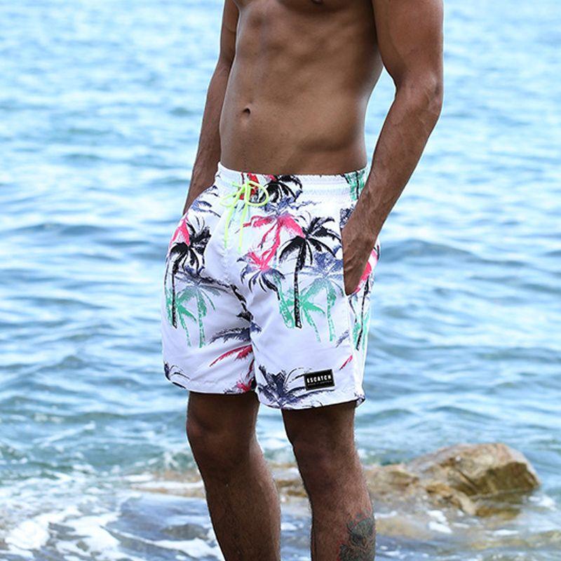 71bb409491 Summer beach board short pants quick-drying leisure briefs men's swim trunk  boxer men swimwear swimsuit bermudas masculina