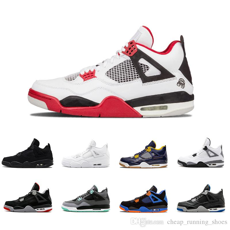 4bad1c41c45 2018 4 4s Men Basketball Shoes 4s Pure Money Royalty White Cement Bred  Premium Black Military Blue Fire Red Mens Sports Sneakers Mens Loafers  Designer Shoes ...