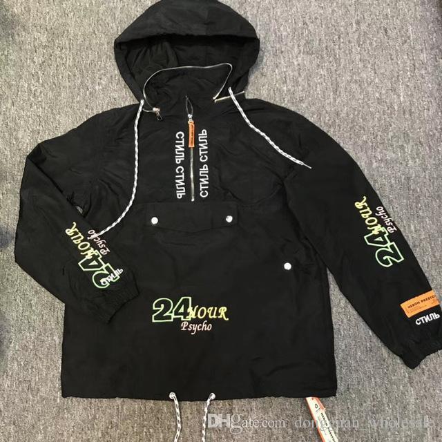 Acquista Heron Preston Jacket Uomo Donna 1  A1 Airone Di Alta Qualità  Preston Jacket Impermeabile Antivento Cappotti Heron Preston Jacket A   49.35 Dal ... f6c69bb4a24