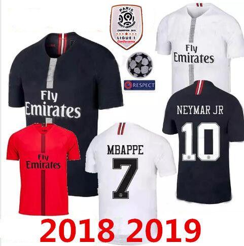 2cddcdd68 New2018 2019 PSG Soccer Jersey Paris 3rd Third MBAPPE Saint Germain ...
