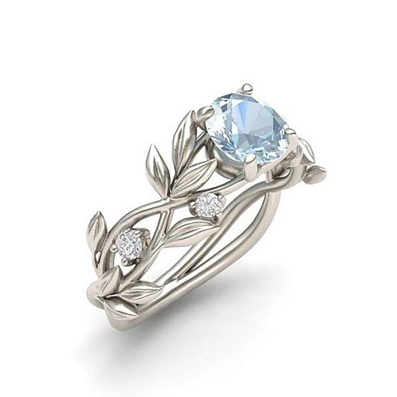 a8d674347 Hot Flowers Finger Alloy Rings For Women Crystal Middle Ring Fashion Jewelry