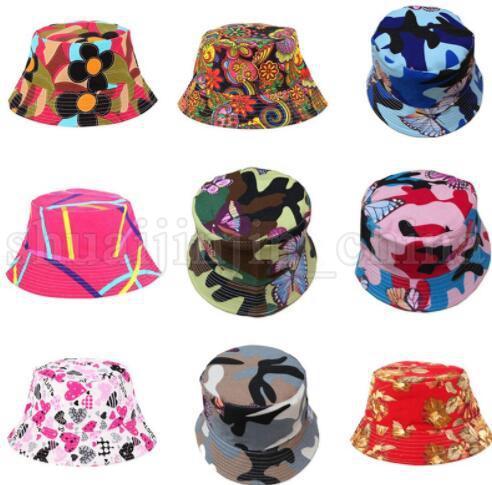 WOMEN Bucket Hats Flower Floral Basin Caps Fisherman s Hat Casual Sunshade  Hats Sunhat Print Canva Canvas Fashion Hot HAT KKA5510 Bucket Hat Flower  Print ... 59ab665ce7bf