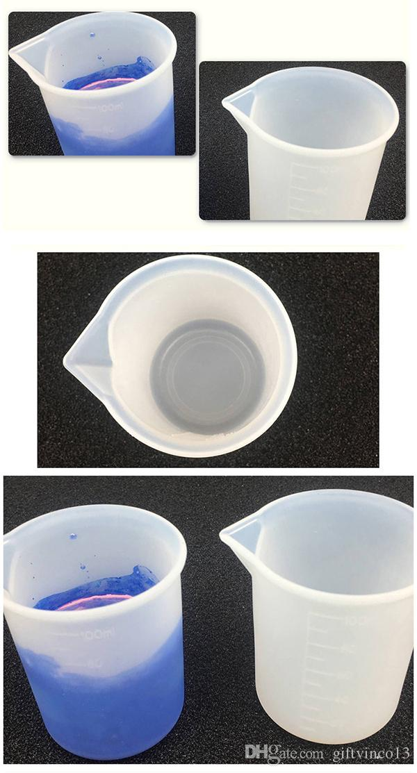 100mL Silicone Measuring Cup Washable & Reusable Measure Dosage Epoxy Resin Mixing Cup DIY Handmade Jewelry Tools Resin Craft