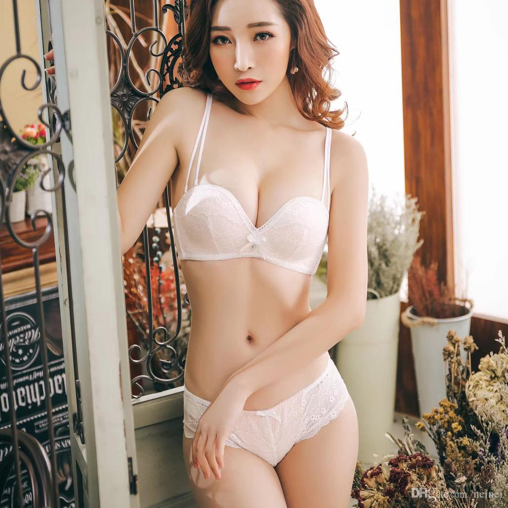 8b6a9baa104 2019 2018 Women Lady Cute Sexy Underwear Seamless Push Up Lace Embroidery Bra  Sets With Panties Lady Luxury French Lingerie Suits From Neinei