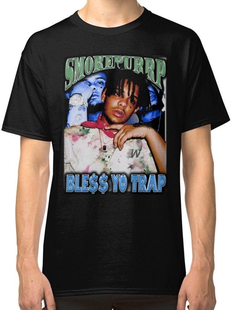 Compre LIL PURRP BLESS YO TRAP Camiseta Negra Para Hombre Camisetas Ropa A   12.75 Del Baisheng05  82d233e8710