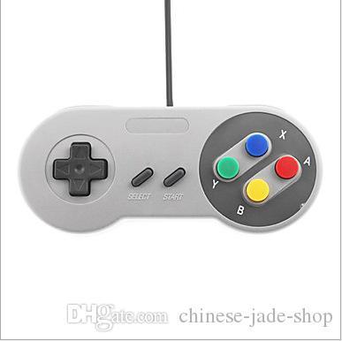 Klassischer USB PC Steuerpult Gamepad Joypad Steuerknüppel-Wiedereinbau für Super-Nintendo SF für SNES NES Mac Tablette PC xv10 /