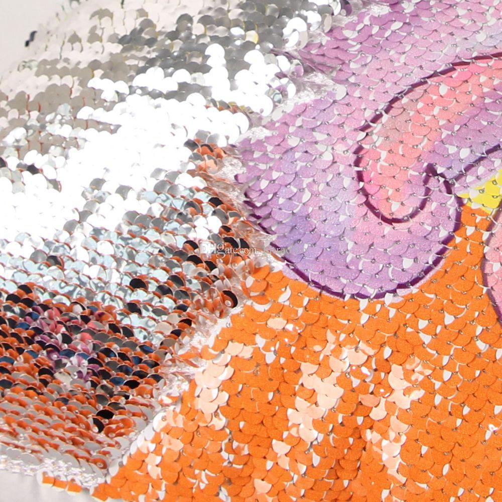 Druckkissen Hülle Mermaid Pailletten Kissenbezug Sofa NAP Kissenbezüge Home Decor 14 Arten C4126