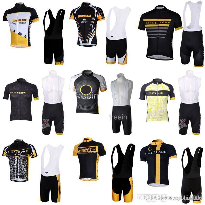 2018 LIVESTRONG Men Cycling Jersey Cycling Short Sleeve Racing MTB Maillot  Bike Bib Shorts Set Ropa Ciclismo 3315 Best Cycling Shorts Cycling Shorts  Women ... bf3a64c76