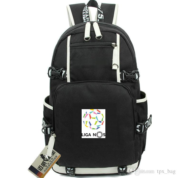 38754a807661 Primeira Liga rucksack Nos league daypack Portugal Football schoolbag  Soccer knapsack Laptop backpack Sport school bag Out door day pack