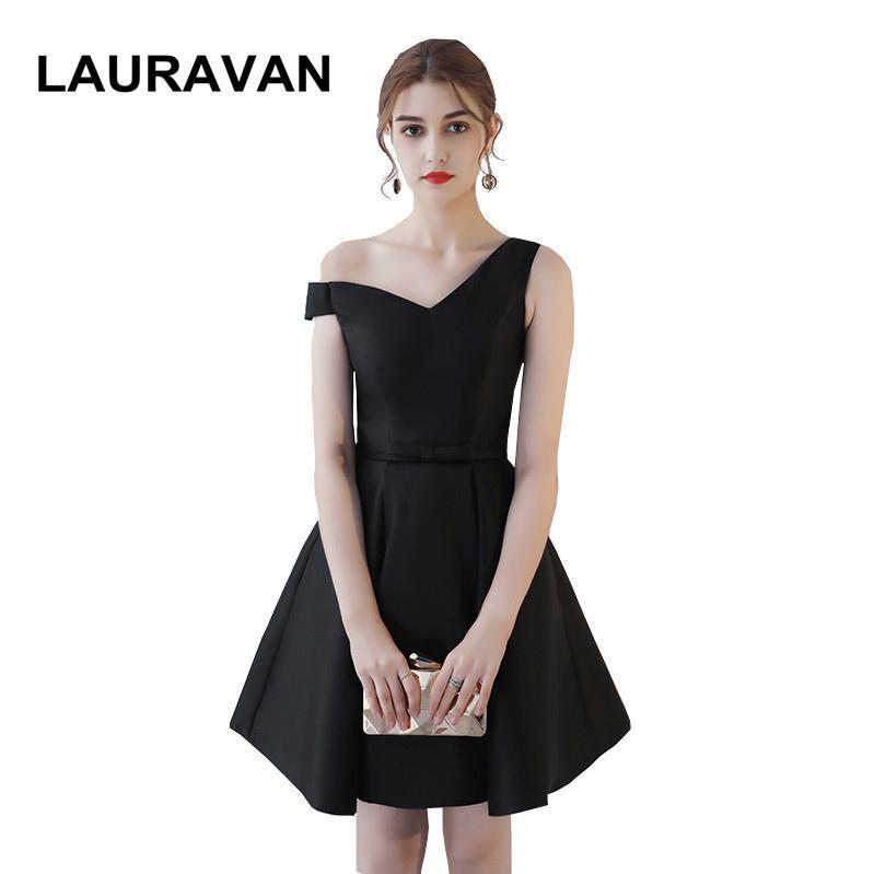 Sleeveless Short Cute Girls Black Pretty Corset Ball Gown Bridesmaid
