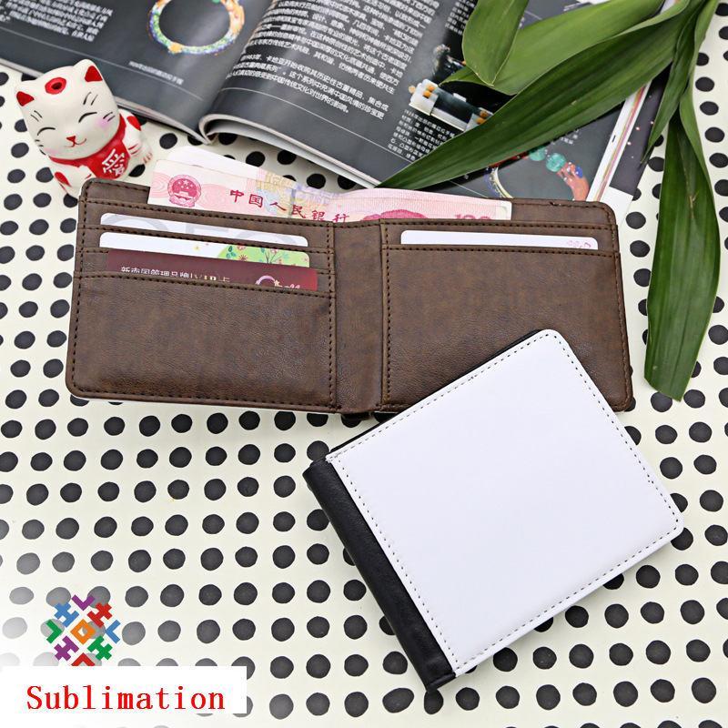 portafoglio la borsa di sublimazione moneybag gli uomini può stampare il tuo design personalizzato stampa a trasferimento termico portafogli in bianco stile corto