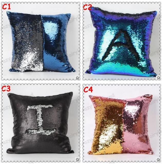 Sequins Pillow Case Xmas Mermaid Bright Sequin Pillow Sequin Inspiration Bright Colored Decorative Pillows