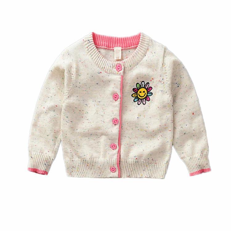 Compre 2018 Otoño 100% Baby Knit Sweater Niños Rebeca Niñas Contraste De  Color Patrón De Flor Del Sol Tops Primavera Niños Prendas De Vestir  Exteriores A ... a41116501353