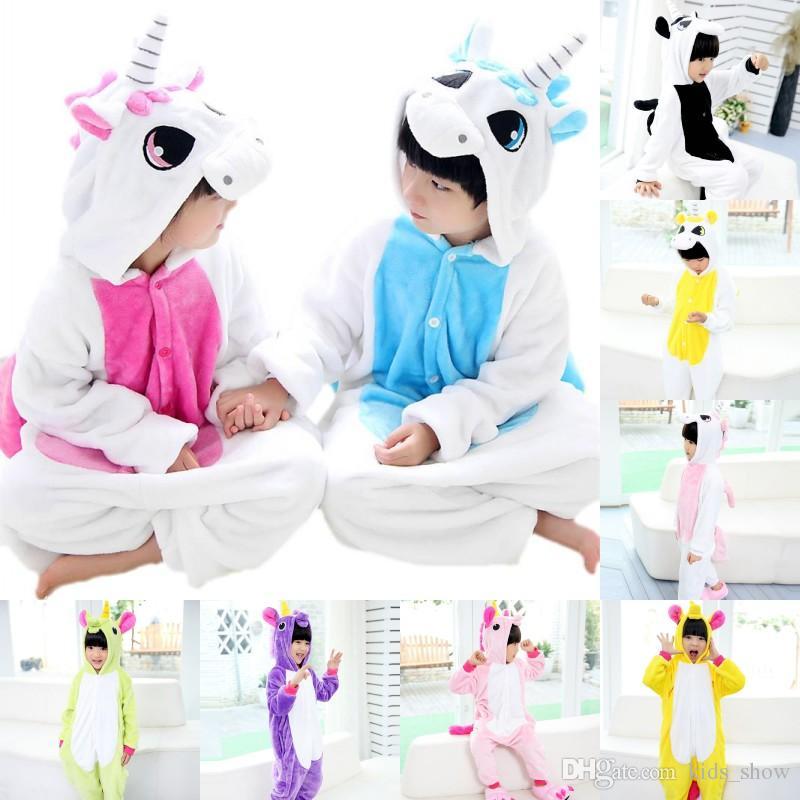 ce10d83451 Compre Mezclar Colores Franela Animal Pijamas Cosplay Traje Unicornio Ropa  De Dormir Niños Manta Durmientes Niños Ropa De Dibujos Animados Animal  Onesies ...