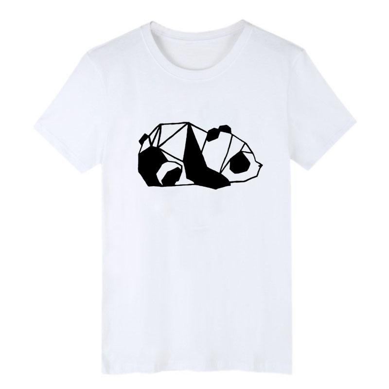 eb349cdb0 Minimalist Cubic Panda Graphic Tee Shirt Black And White T Shit Men Clothes  2018 Summer New Fashion Cotton Printing Tshirt T Shirt Deals Humor Shirts  From ...