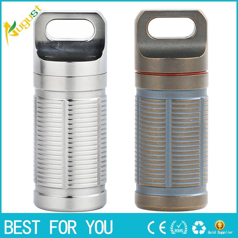 Tiartisan Household Case Titanium Pill Box Waterproof Battery Storage Ultralight Titanium Classic Container Ta6110ti