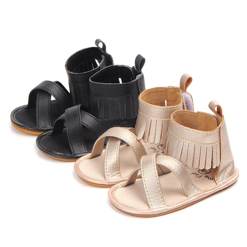 cad4ae0fb0c5 New Roman Style Baby Sandals Gladiator Girls Tassel Pu Leather Sandals Hard  Sole Prewalkers Baby Dress Shoes Kids Girl Shoes Toddler Boys Dress Shoes  From ...