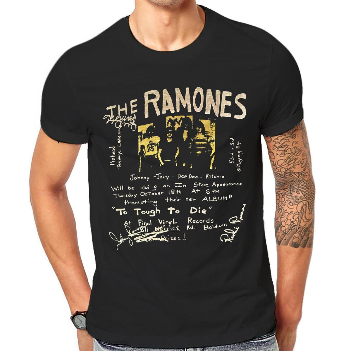 Ramones Vintage Classic Rock Band New Graphic Print Printed Summer Style  Tees Male Harajuku Top Fitness Brand Clothingn