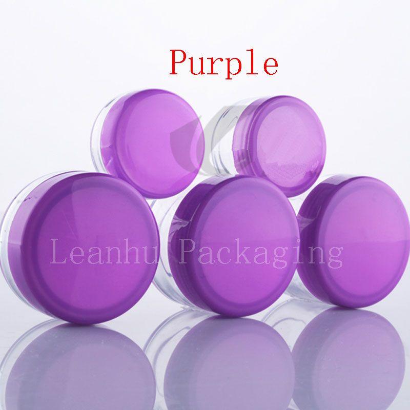 3g 5g 10g 15g 20g jar with purple lid