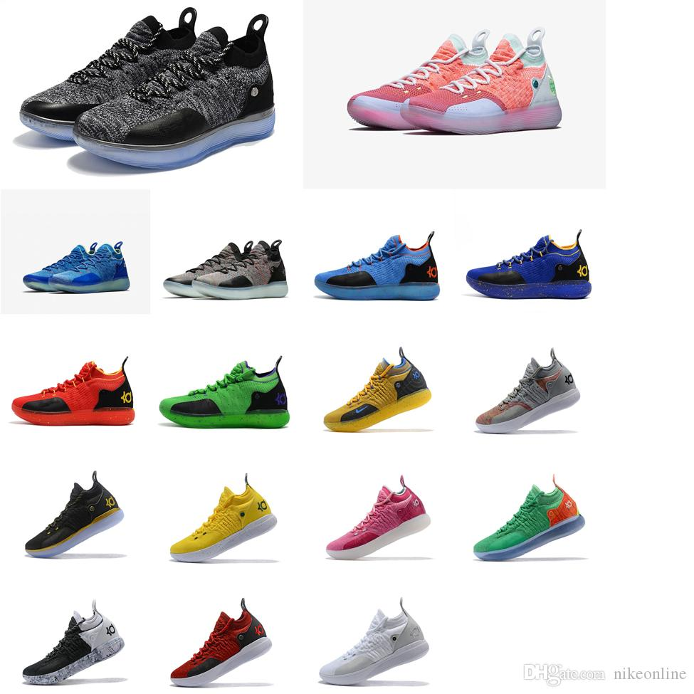 6bcc6099b48bf 2019 Cheap New 2018 Mens Kevin Durant KD 11 XI Basketball Shoes Black White  Pink Blue Red ways KD11 Sneakers With Original Box For Sale From  Nikeonline, ...