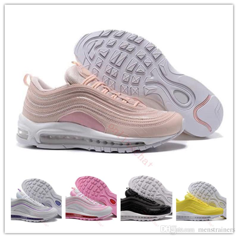f1aa3c0a935 White Women 97 Running Shoes Cheap Zapatos Mujer 97s Designer Shoes ...