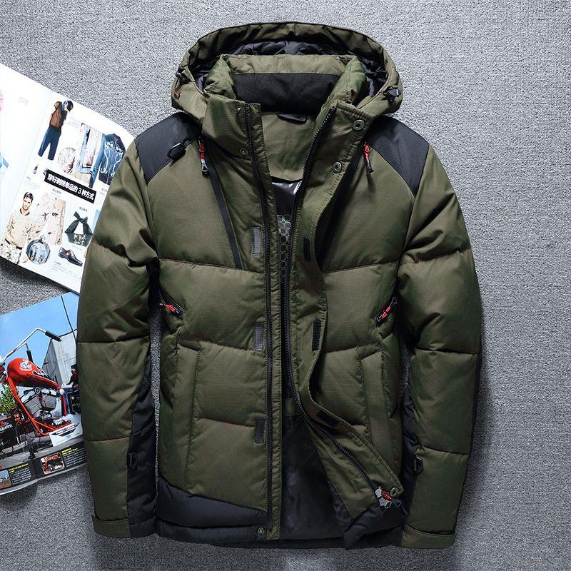 Großhandel 2019 2018 Modemarke Winter Männer Daunenjacke Lässige Herren  Daunenjacke Und Mäntel Dicken Parka Männer Outwear Daunenjacke Männlichen  Kleidung ... 9bb851f9a0