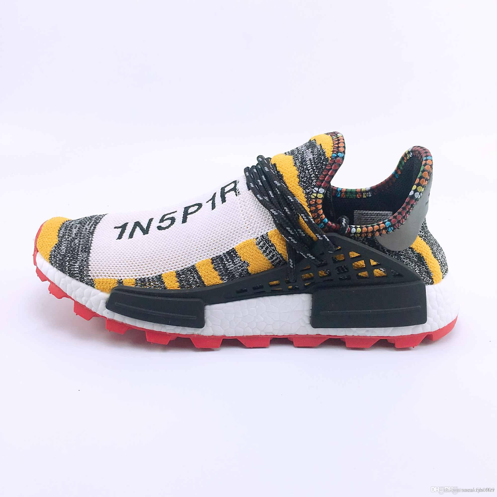 7b483f04a473e Different Prices Human Race Afro Hu Trial Red Green Pharrell Williams Men  Running Shoes Black Solar Pack 3 Women Trainers Sports Sneaker Boys White  Athletic ...