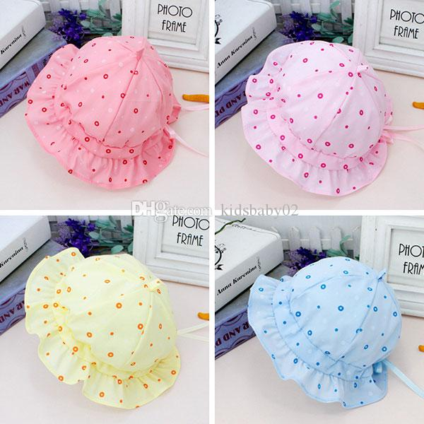 0-1Years Baby Infant Blue Hat Yellow Pink Girl Bucket hat Adjustable Best  Cute Fisherman Hat for Outdoor Travel 11bed3a0789