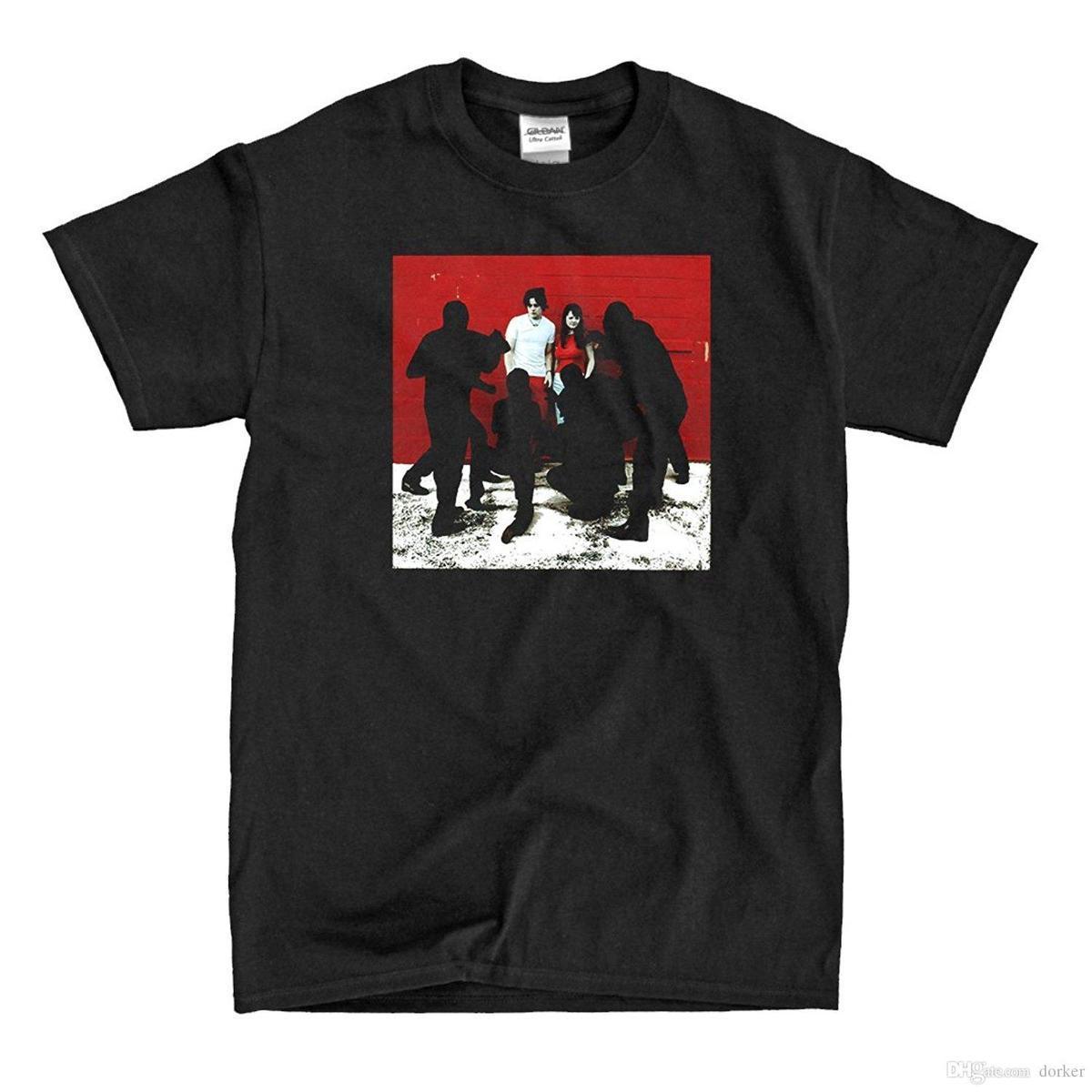 1ba0df4d9ceb4f De Witte Strepen Witte Bloedcellen Rock Band Heren Zwart T Shirt Maat S Tot  3XL Stranger Dingen Print T Shirts Originele Design Your T Shirt  Personalized T ...