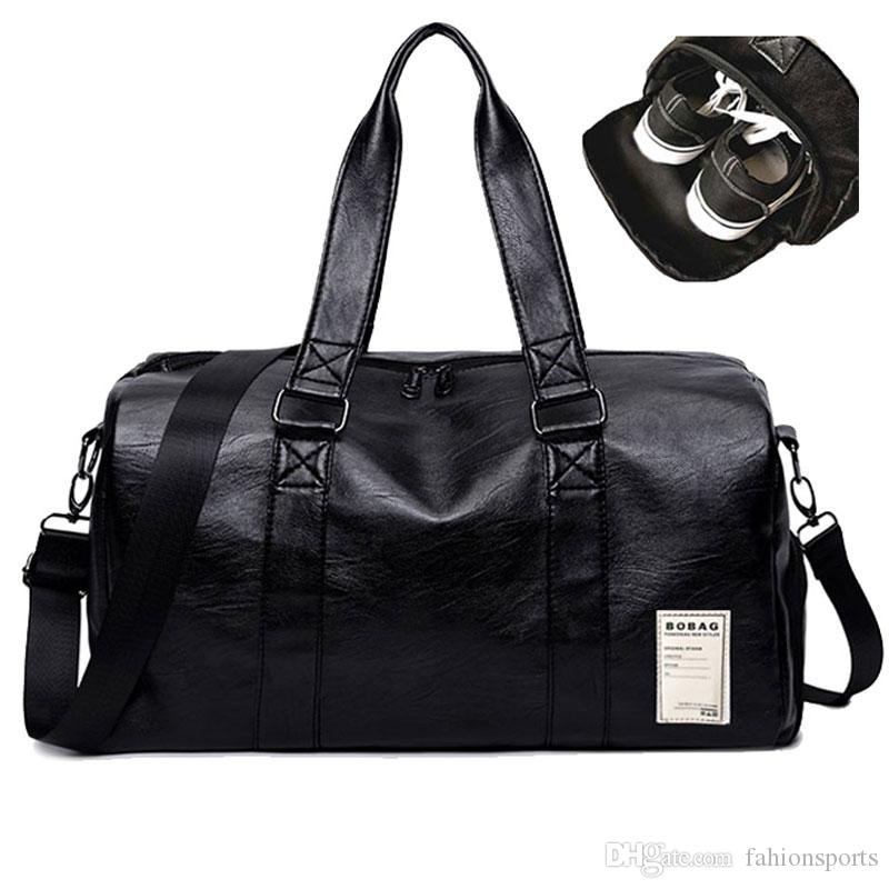 219ee417ad Pu Leather Gym Male Bag Top Female Sport Shoe Bag for Women Fitness Over  the Shoulder Yoga Bag Travel Handbags Black Red Yoga Bags Sport Shoe Bag  Travel ...