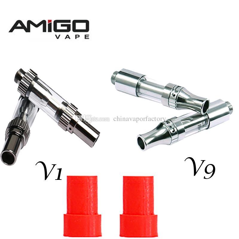 Amigo Liberty V9 Vape Tanks Empty Vaporizer Pen Cartridges 510 Oil  Cartridge Vape Pen Atomizer 0 5ml 1ml 510 Thread Atomizers