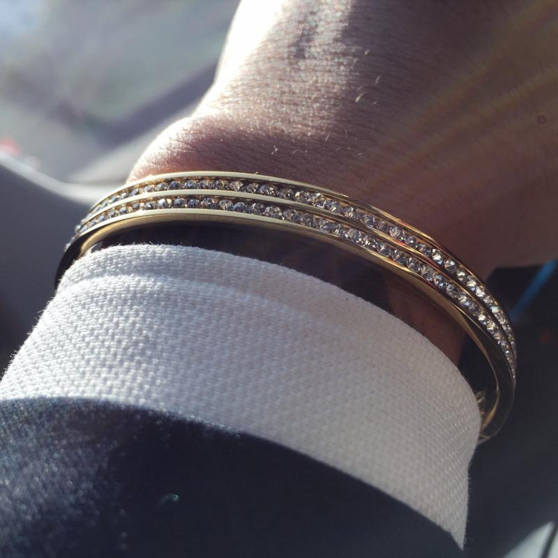 Top Quality B Brand 316L Stainless Steel Zircon Bracelet