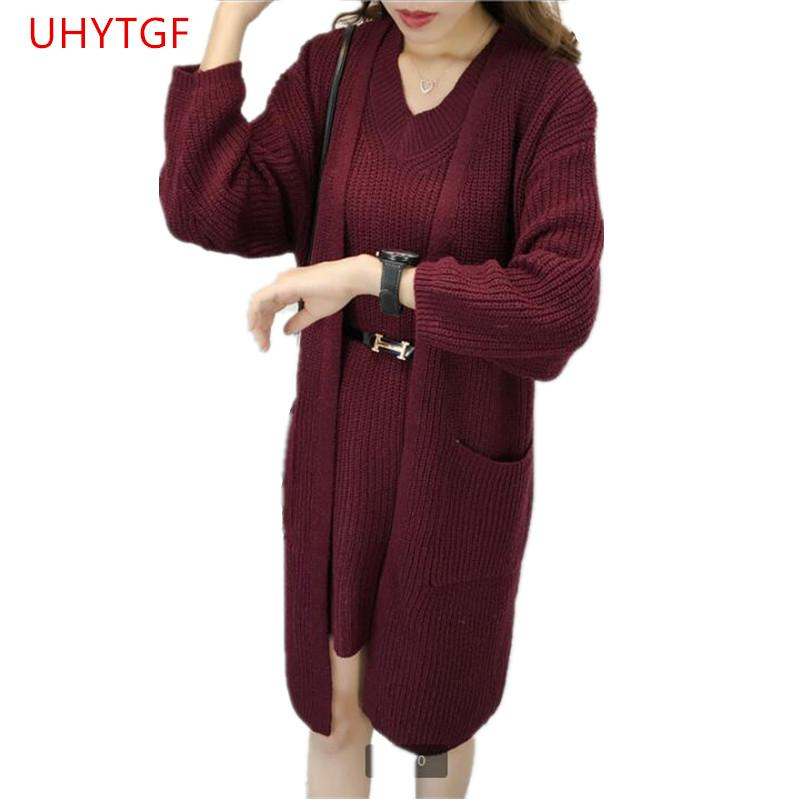 8f16e303f5 2019 Sweaters For Women Long Cardigan Elasticity Sweater Coat NEW Elegant  Womens Suit Set Autumn Winter Clothes Womens R446 From Maluokui