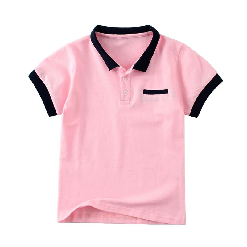 08ec05ed773 2019 Mudkingdom Boys Polo Shirt Cotton Kids Camisa Polo Candy Color Turn  Down Collar Button Summer Tees Children Clothing From Sport xgj