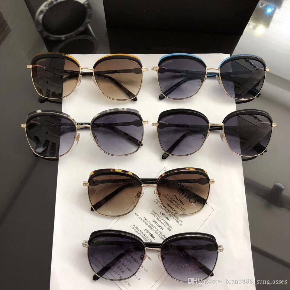 8d8214dd8 Compre Nova Designer De Moda Óculos De Sol Modelo BV6112B Full Frame Uv400  Alta Qualidade Atmosfera High End Com Caixa Original De  Brand888_sunglasses, ...