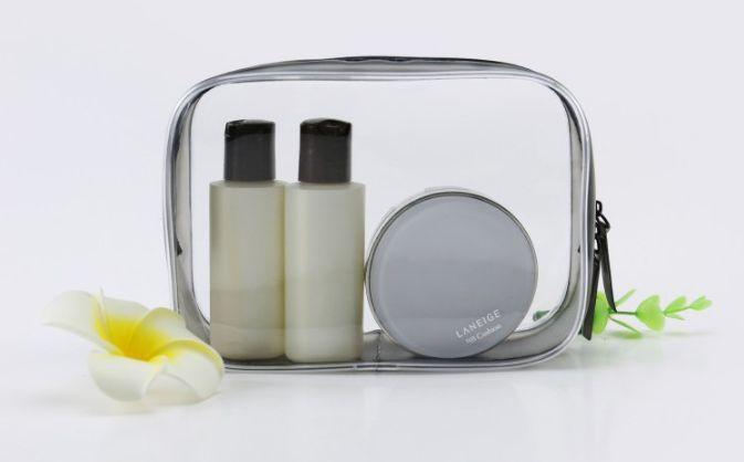 klare wasserdichte Kosmetiktaschendame waschen Gurgelnbeutel transparente PVC-Reiseverfassungsbeutel, welche die Beutel sortieren, die größer sind, MENGE kann Soem-Firmenzeichen annehmen