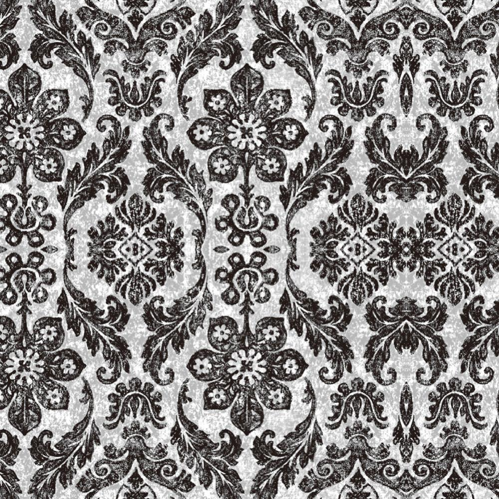 Haokhome Vintage Floral Damask Peel And Stick Wallpaper Diamond Black Mushroom Self Adhesive Living Room Bedroom Home Decor
