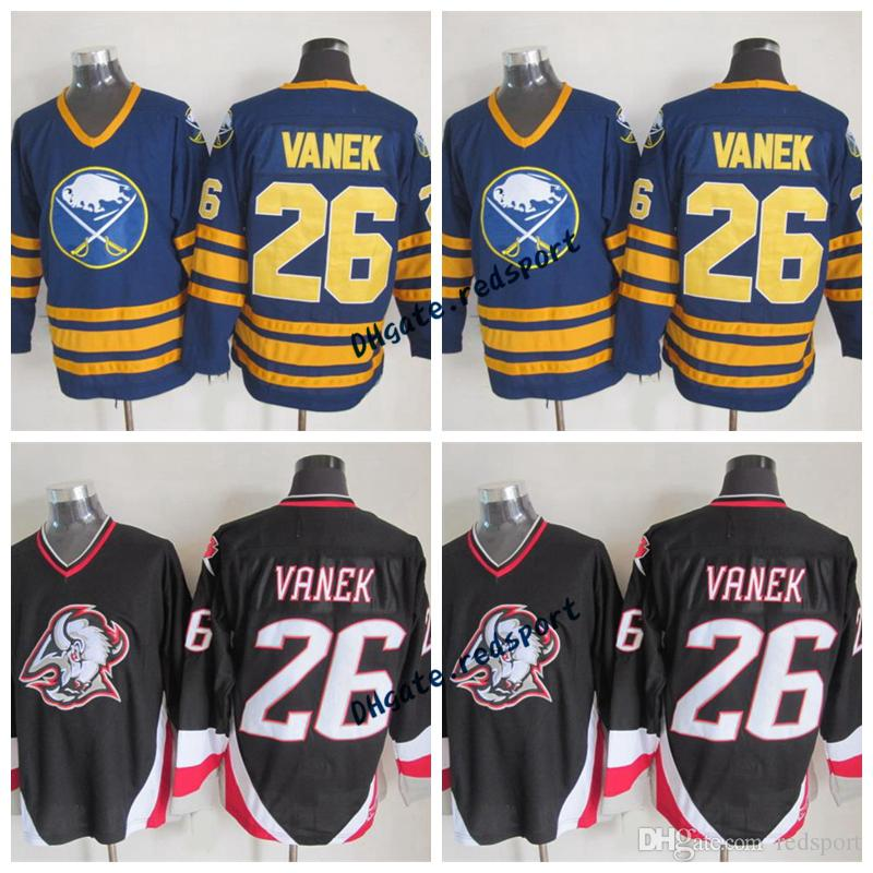 9b2b3c6f6 2019 Buffalo Sabres THOMAS Vanek Hockey Jerseys Vintage CCM 26 THOMAS Vanek  Stitched Hockey Jerseys Blue White Cheap From Redsport