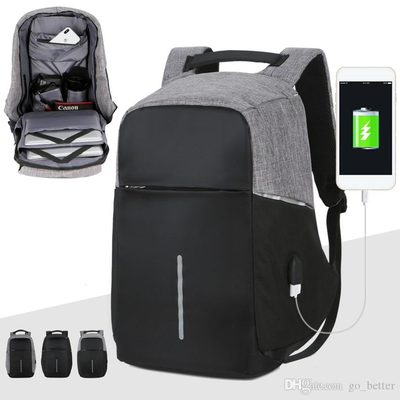 e4674ee3c151 15 Inch Laptop Backpack USB Charging Anti Theft Backpack Men Travel  Backpack Waterproof School Bag Male Mochila Outdoor Bags UK 2019 From  Go better