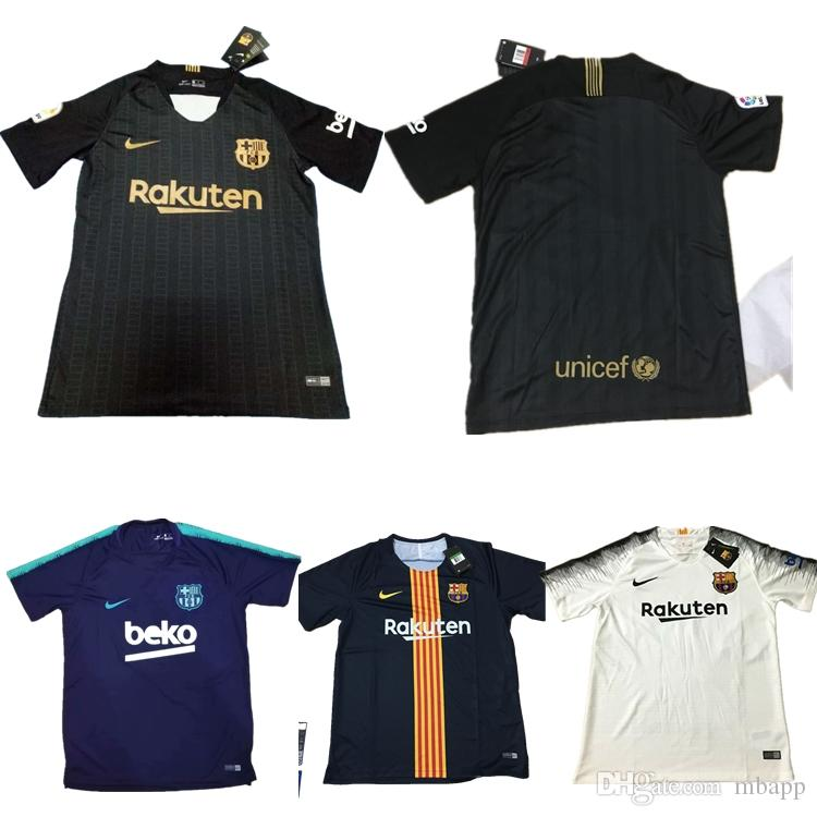 the best attitude 90b7c ad3f9 discount code for barcelona 3 pique black soccer club jersey ...