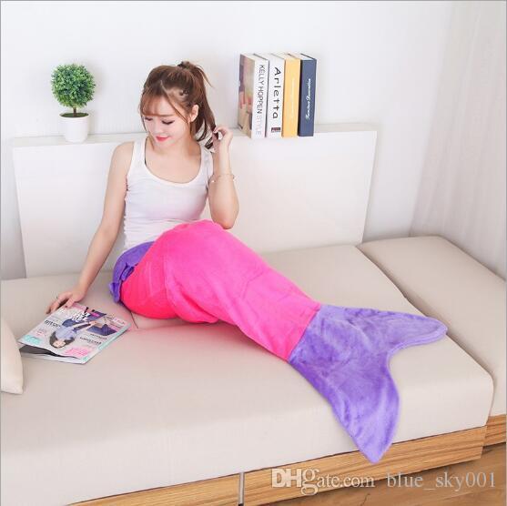 Meow Shark Mermaid Tail Doux Polaire Couverture Enfants Snuggle-in Sac de Couchage Super doux couverture Mermaid sac de couchage 9 style