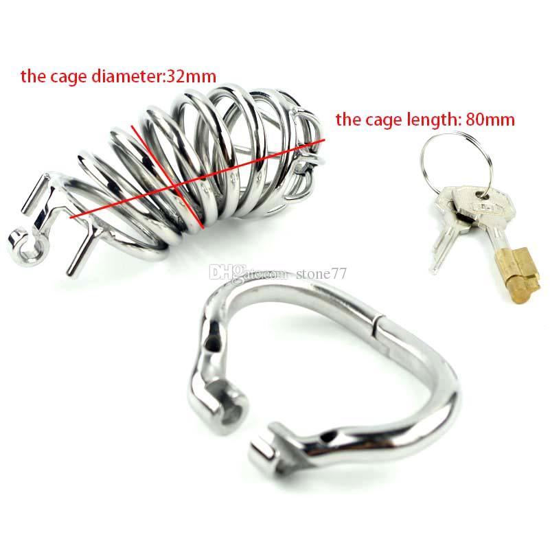 Nuovo design 105mm lunghezza Medical in acciaio inossidabile maschio dispositivo di castità curva Cock Cage CB BDSM schiavo femdom